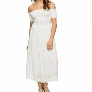 Roxy white midi dress
